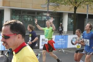 """Like a pro!"" Andreas bei Kilometer 38"