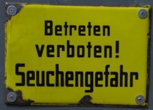 Rüsselseuchen-Zone!