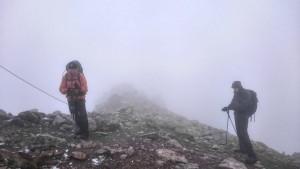 Frostig kalt und fast komplett im Blindflug unterwegs: am Greifenberg