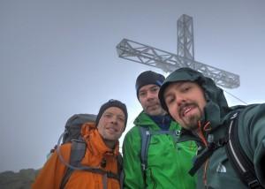 Auf dem Höhepunkt der diesjährigen Wanderung: der Gipfel in 2.614 Meter Höhe